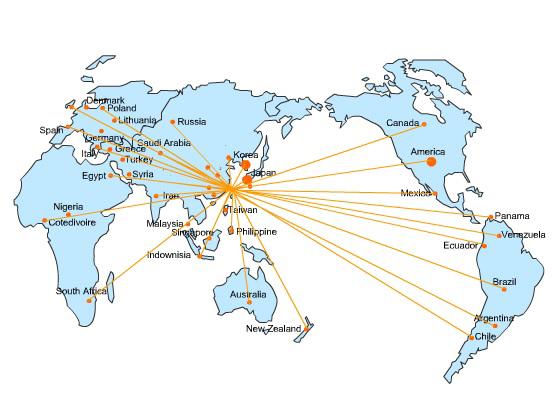 全球辐射图