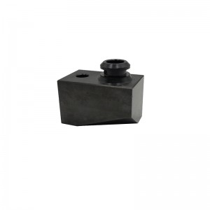 Original Factory Custom Made Dongguan Electrical Terminal Anodized Black , Copper Connector